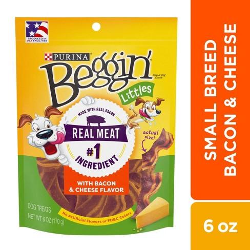 Purina Beggin Littles Bacon & Cheese Flavor Dog Treat - 6oz - image 1 of 4
