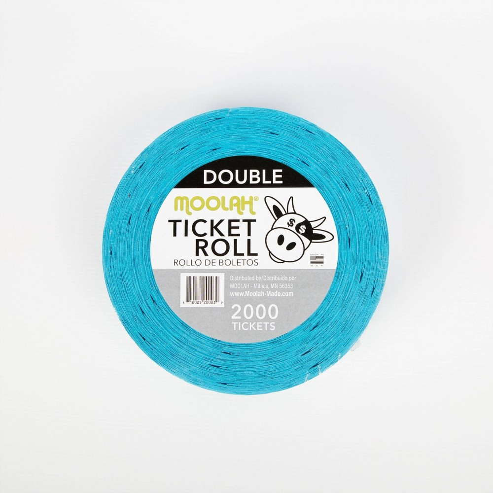 Image of Moolah Double Ticket Roll - 2000 Tickets