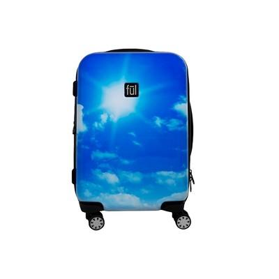 "FUL 21"" Blue Sky Hardside Carry On Spinner Suitcase"