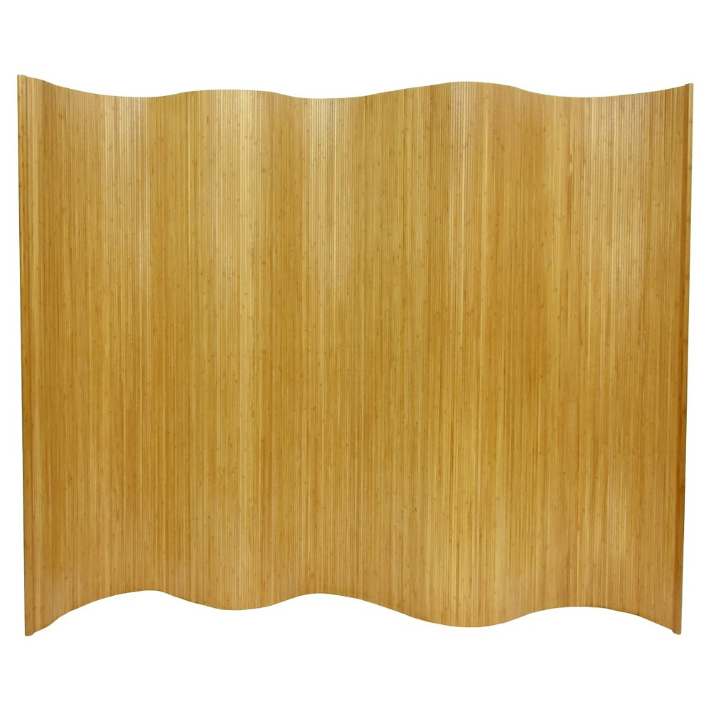 Oriental 6 ft. Tall Bamboo Wave Screen - Natural, Neutral