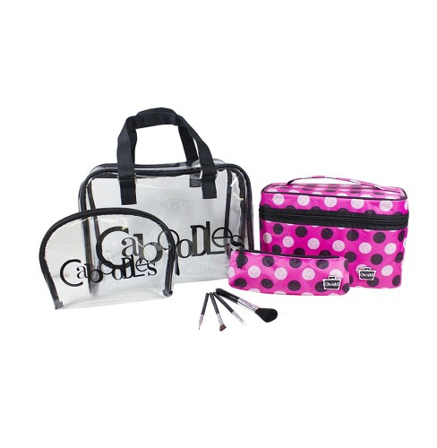 Caboodles Bag Set Pink Snowball Print - 8pc - image 1 of 1