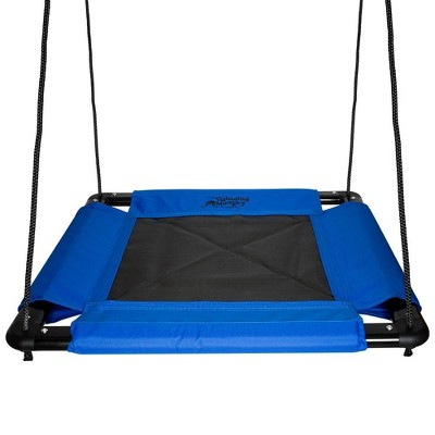 Swinging Monkey Giant 32 Inch 400 Pound Weight Capacity Comfortable Square Web Fabric Outdoor Family Play Swing, Blue