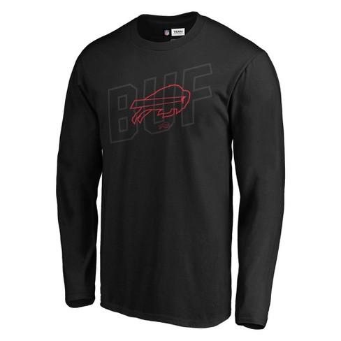 NFL Buffalo Bills Men's Tridcode Metallic Logo Long Sleeve T-Shirt - Black - image 1 of 3