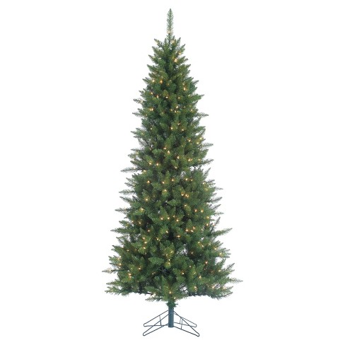 7.5ft Pre-Lit Artificial Christmas Tree Narrow Nordic Fir - Clear Lights - image 1 of 1