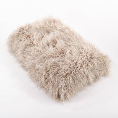 Faux Mongolian Fur Throw Blanket - Saro Lifestyle
