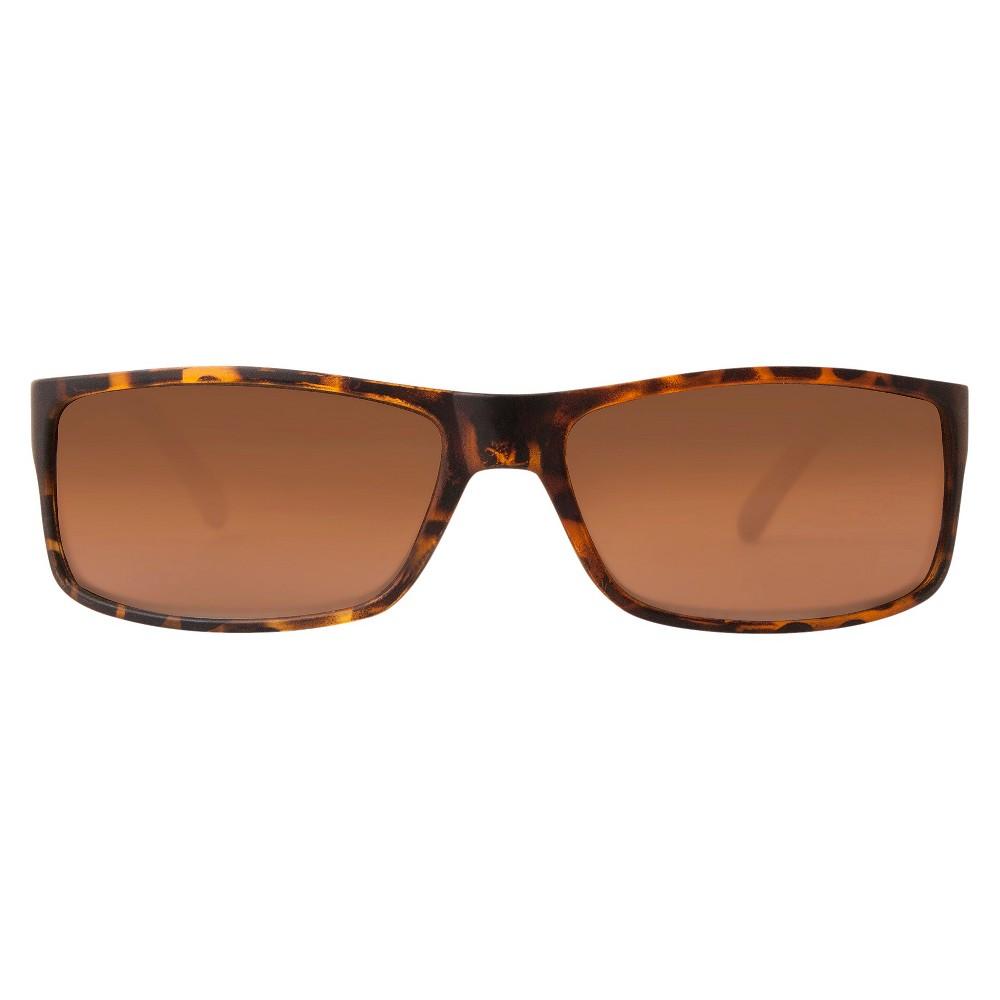 Dickies Men's Rectangle Sunglasses - Tortoise, Brown