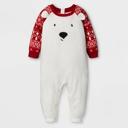 "Baby's Holiday ""Lil"" Bear Union Suit - Wondershop™ Gray"