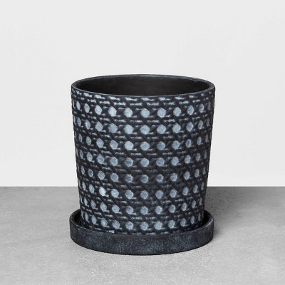 7  Caning Planter Black - Hearth & Hand™ with Magnolia