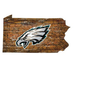 NFL Fan Creations State Shape Logo Sign