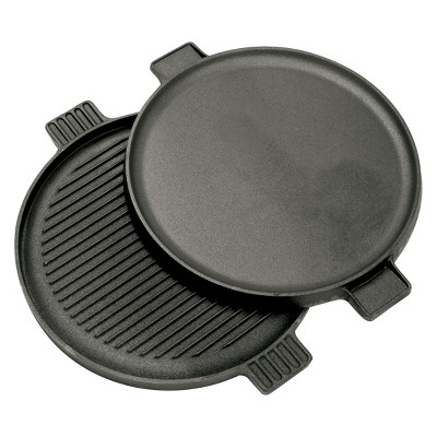 Bayou Classic Cast Iron 14in Reversible Round Griddle