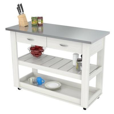 Kitchen Cart Washed Oak - Inval
