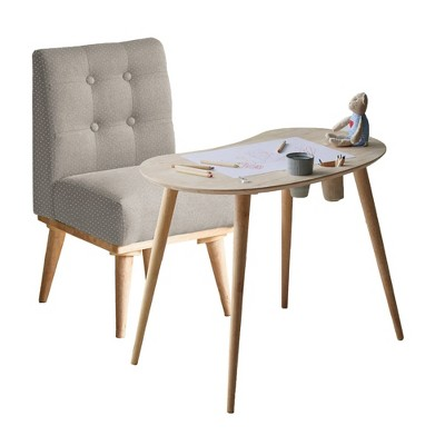 Kids' Sweedi Solid Wood Table with Upholstered Chair Set - South Shore