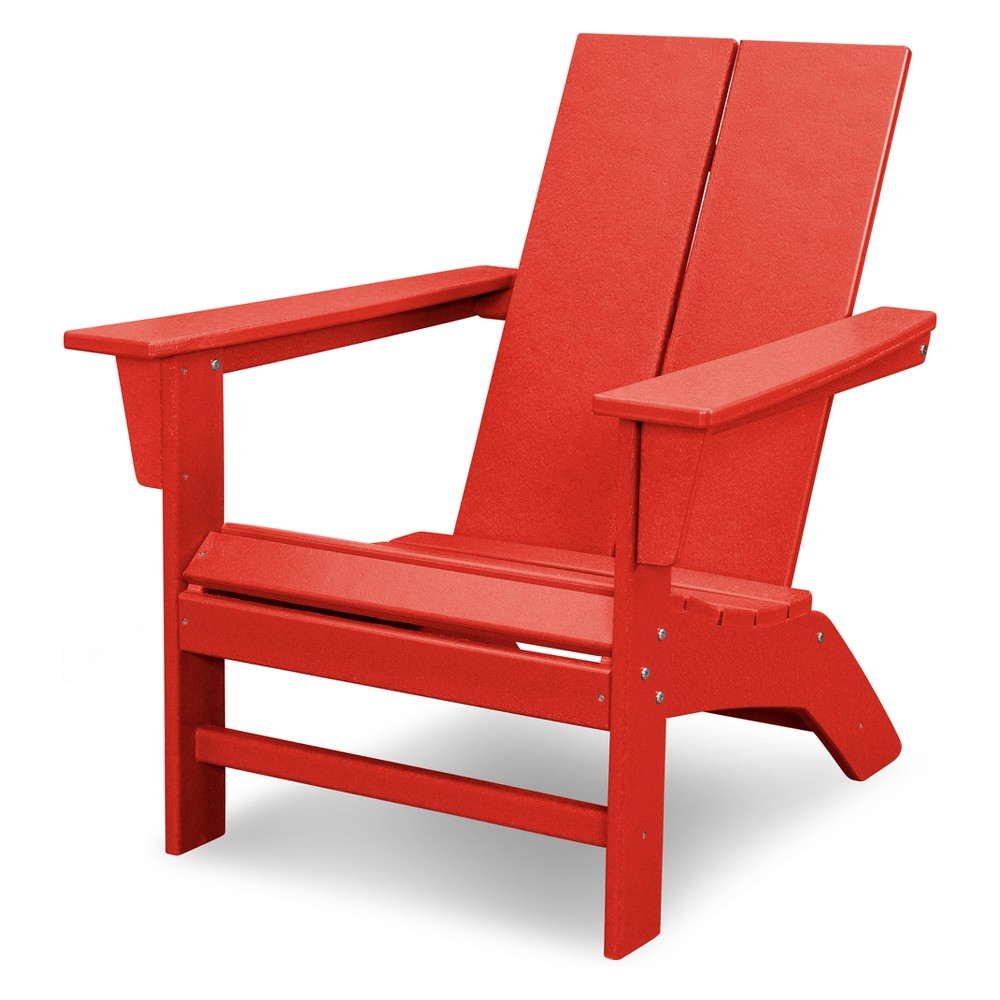 Polywood St. Croix Contemporary Adirondack - Sunset Red