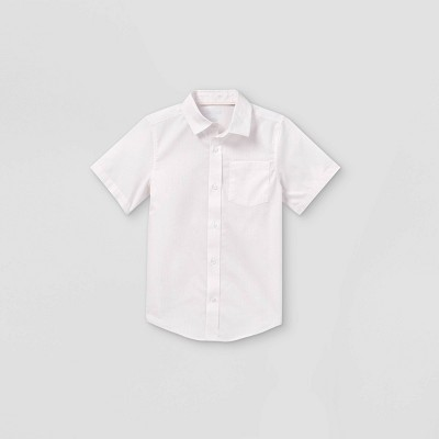 Boys' Woven Short Sleeve Button-Down Shirt - Cat & Jack™ Light Pink