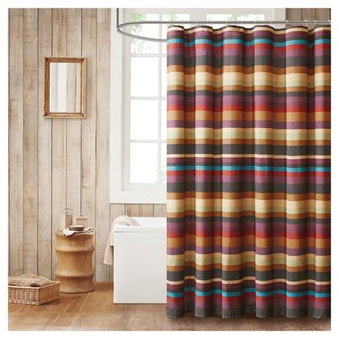 Shower Curtain Stripe Purple Yellow Target