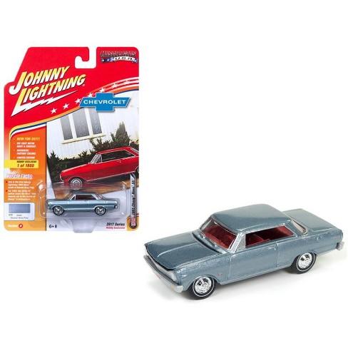 "1965 Chevrolet Nova SS Glacier Gray Poly Ltd Ed 1800pc Hobby Exclusive ""Muscle Cars"" 1/64 Diecast Model Johnny Lightning - image 1 of 1"