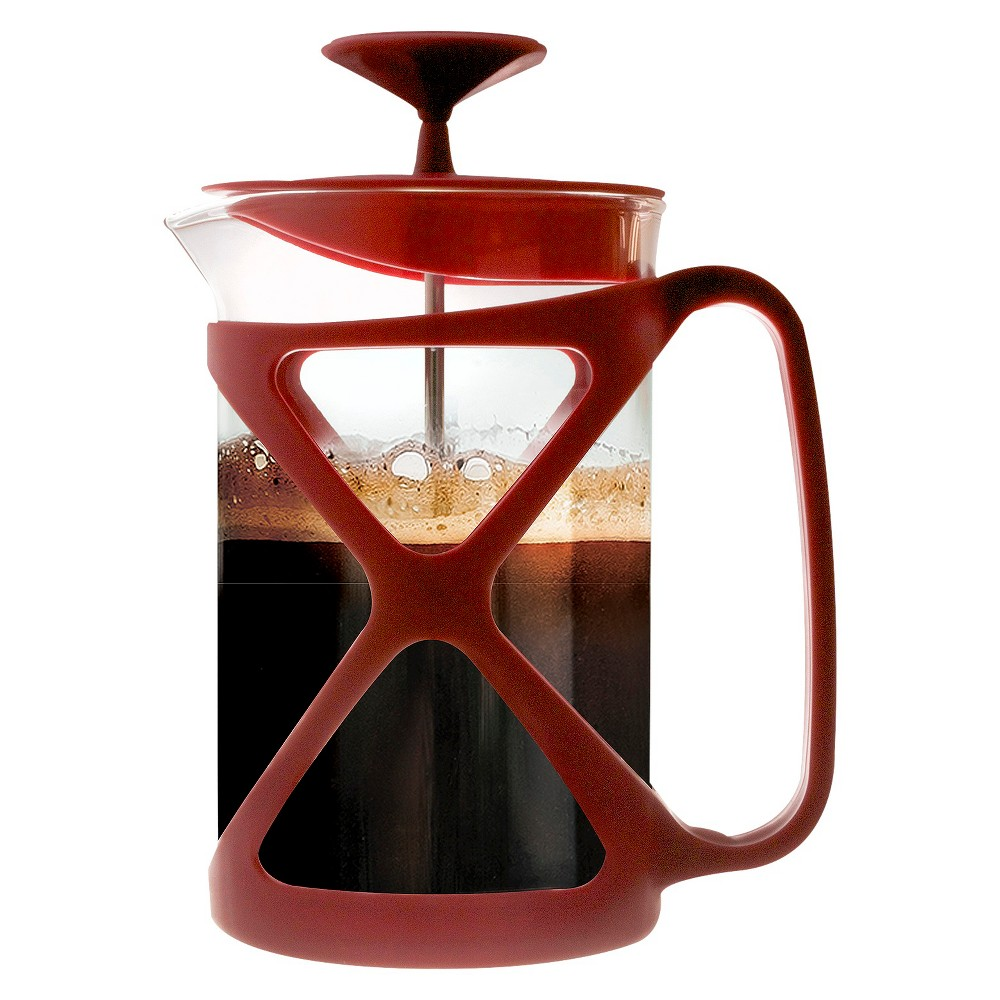 Image of Primula 6-Cup Tempo Coffee Press - Red, Clear