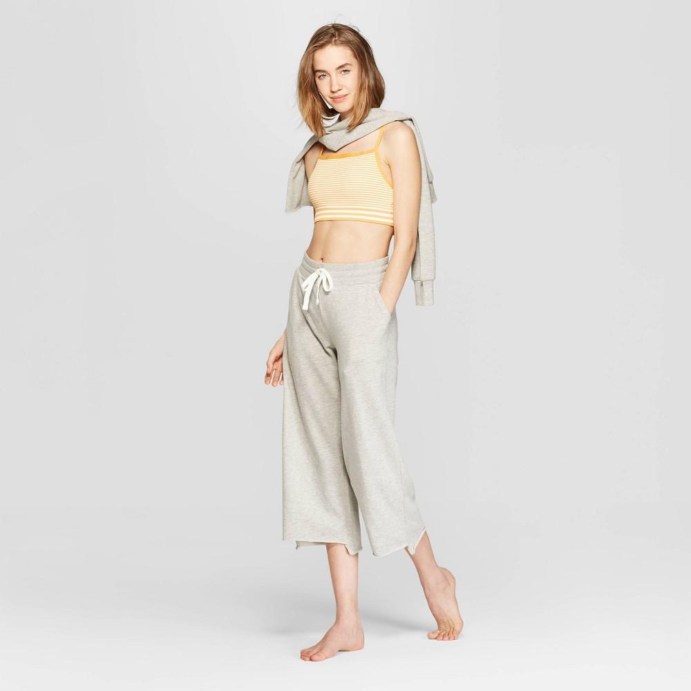 Women's Striped Bralette - Colsie White/Orange L, White Orange Stripe