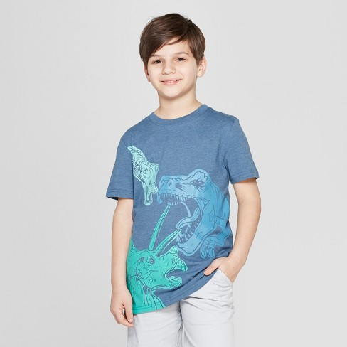 Boys' Dinos Short Sleeve Graphic T-Shirt - Cat & Jack™ Navy - image 1 of 3