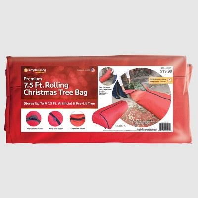 Simple Living Solutions 7.5ft Rolling Christmas Tree Storage Bag