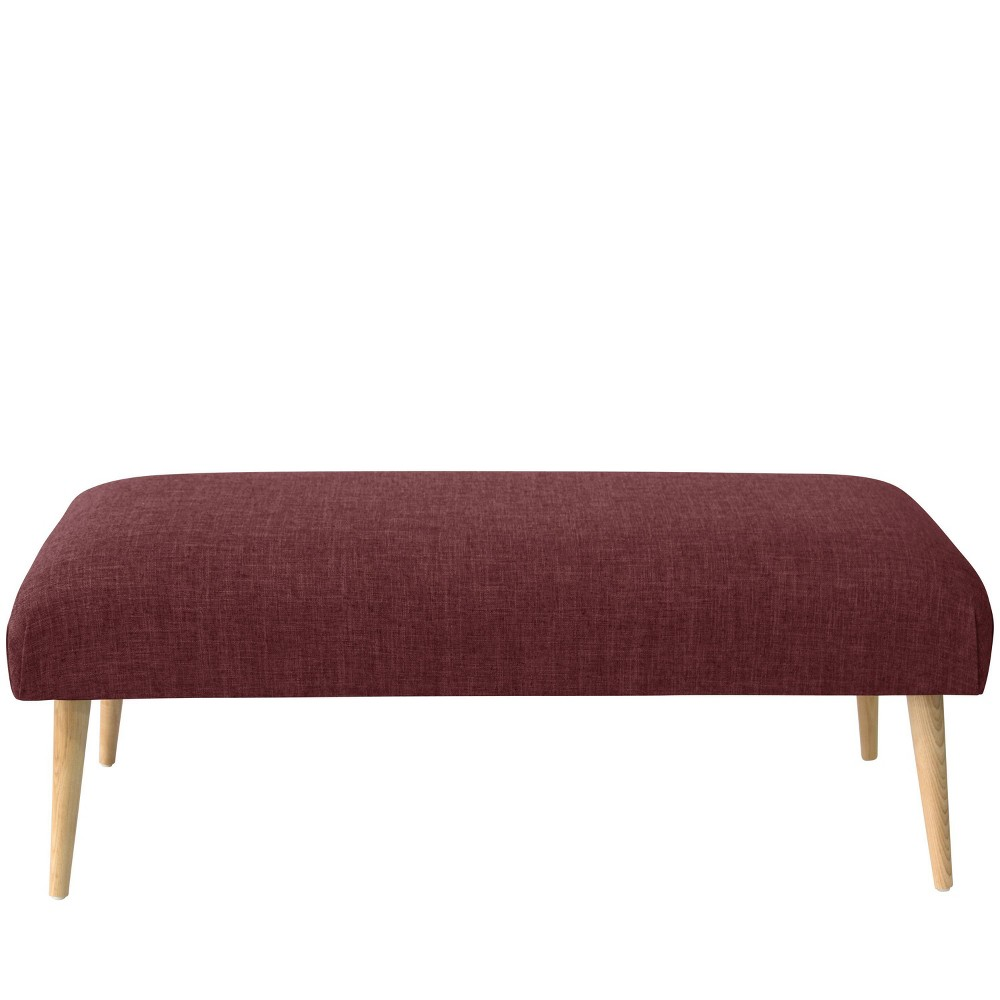 Bench with Cone Legs in Zuma Oxblood Red - Threshold