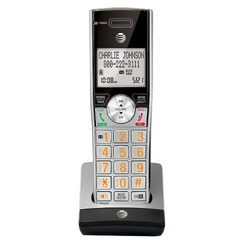 AT&T CL80115 DECT 6.0 Accessory Handset for AT&T CL82215 & Other Models, Silver/Black - image 1 of 2