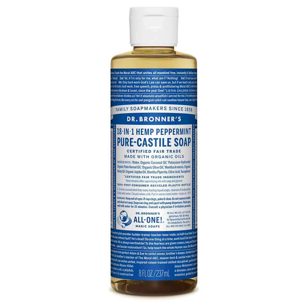 Image of Dr. Bronner's Peppermint Pure-Castile Liquid Soap - 8oz