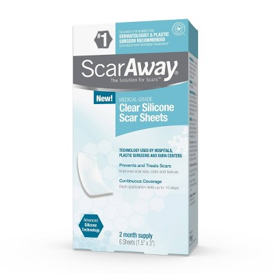 ScarAway Clear Silicone Scar Sheets - 6ct
