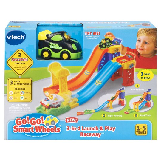 VTech Go! Go! Smart Wheels 3-in-1 Launch and Play Raceway image number null