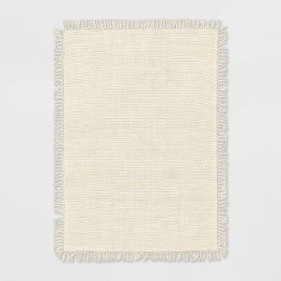5'x7' Kingstown Woven Fringe Rug Tan - Threshold™