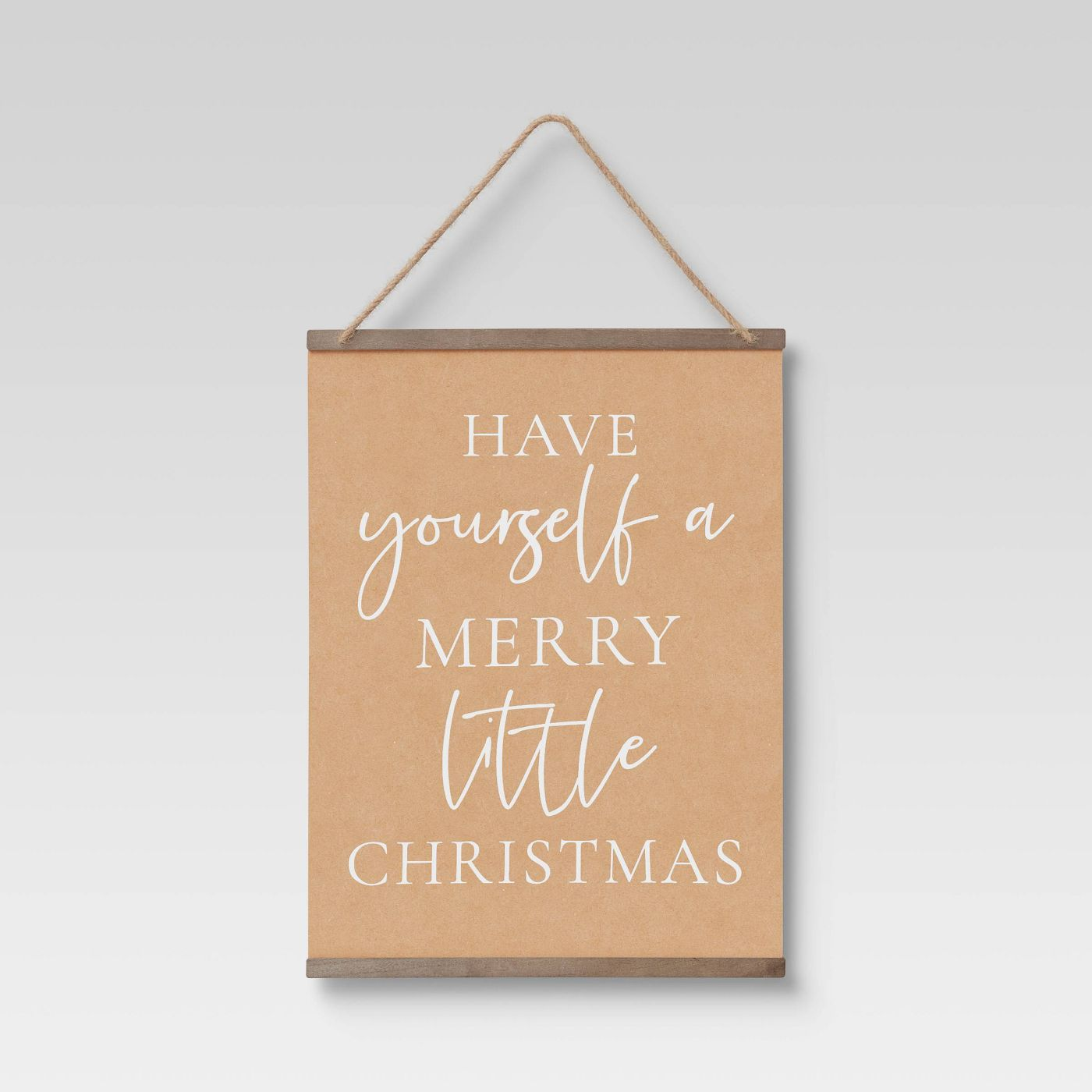 """18"""" x 24"""" Christmas Scroll Banners and Garlands Tan - Threshold™ - image 1 of 4"""