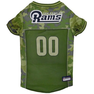 Los Angeles Rams Pets First Camo Pet Football Jersey - Camo L