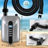 SereneLife Portable Digital Electric Air Pump Inflator Compressor with Detachable Hose for Watersports, Pool Inflatables, and SUP Paddleboards, Silver - image 3 of 4
