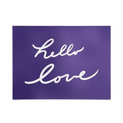 """18""""x24"""" Lisa Argyropoulos Hello Love Violet Unframed Wall Poster Print Purple - Deny Designs"""