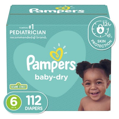 Pampers Baby Dry Diapers - (Select Size and Count)