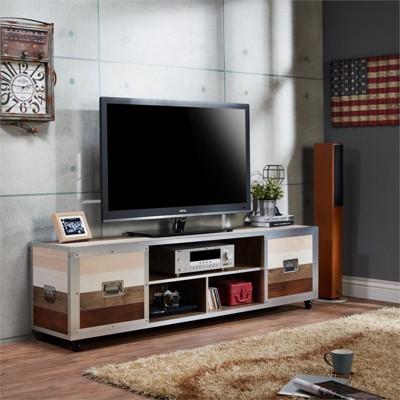 "Micah 70"" Metal Framed TV Stand in Multi Color - Furniture of America"