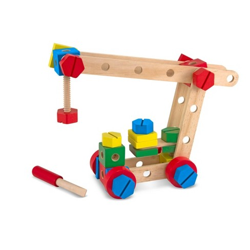 Melissa & Doug Wooden Construction Building Set in a Box (48pc) - image 1 of 4