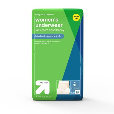 Incontinence Underwear for Women - Extra Large - 26ct - up & up™
