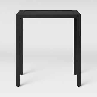 Standish Bar Height Rectangle Patio Table Black - Project 62™