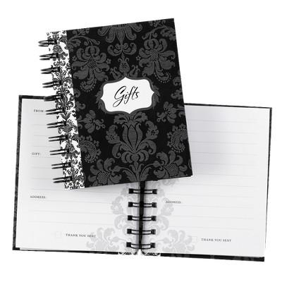 Damask Gift Record Book - Black