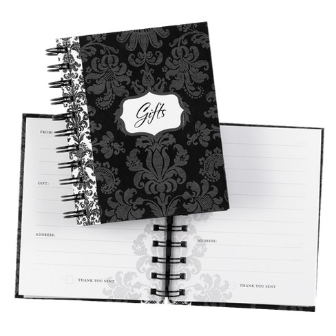 Damask Gift Record Book - Black - image 1 of 1