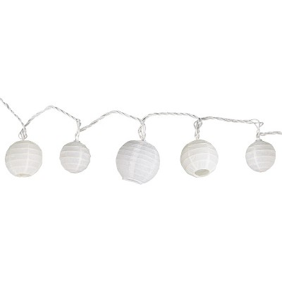 11' Multi-Size Ball String Lights White - Room Essentials™
