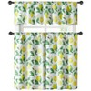 Kate Aurora Country Lemon Vine Complete 3 Piece Kitchen Curtain Tier & Valance Set - 58 in. W x 56 in. L, Multi - image 2 of 2