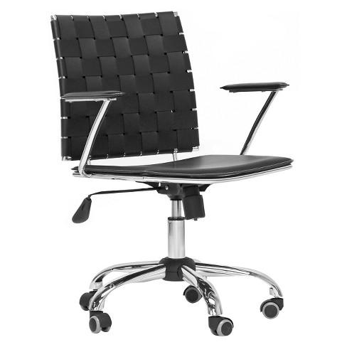 Excellent Vittoria Leather Modern Office Chair Black Baxton Studio Interior Design Ideas Gentotryabchikinfo