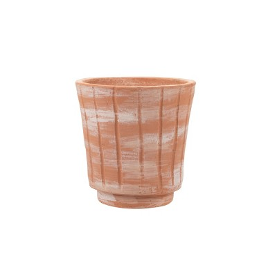 White Washed Terracotta Planter - Foreside Home and Garden