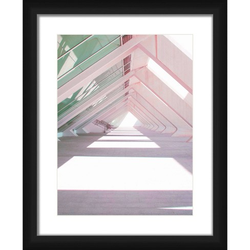 "18"" x 22"" Matted to 2"" Triangles Shadow Picture Framed Black - PTM Images - image 1 of 4"