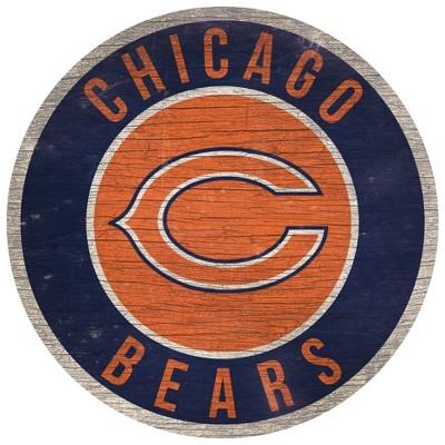 "NFL Chicago Bears Retro Circle Wooden Wall Art - 12"""