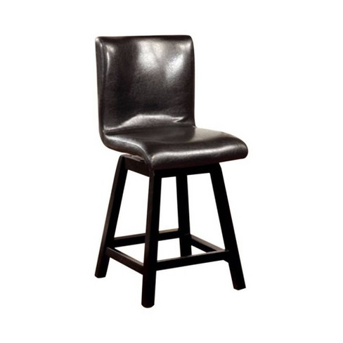 Set of 2 Counter Height Chairs Black - Benzara - image 1 of 4