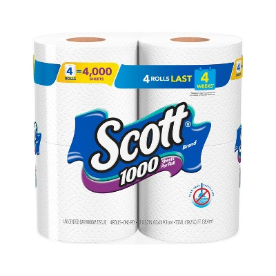 Scott Septic Safe Toilet Paper - 1000 Sheets/Roll