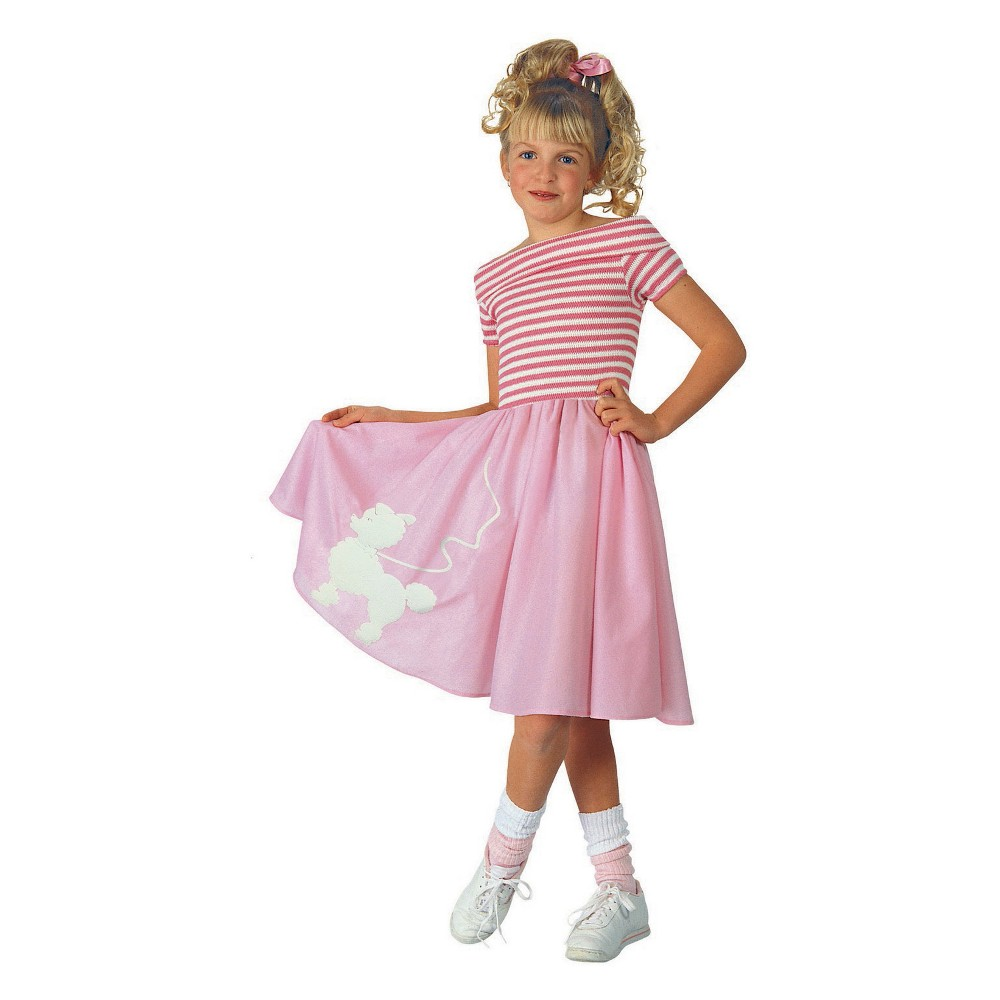 Girls' Nifty Fifties Halloween Costume S, Multi-Colored